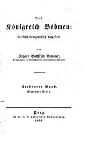 Das Königreich Böhmen: statistisch-topographisch dargestellt. Klattauer Kreis, Band 7