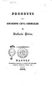 Poemetti di Giuseppe Ceva Grimaldi a Raffaele Petra