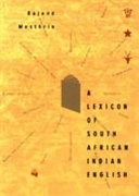 A Lexicon of South African Indian English