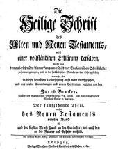 Die Heil. Schrift, nebst einer vollstaendigen Erklaerung derselben aus den Anmerkungen Englaend. Schriftsteller: Band 15