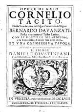 Opere Di Gaio Cornelio Tacito