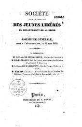 Compte rendu des travaux de la Société pour le Patronage des jeunes libérés de la Seine
