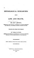 Physiological Researches Upon Life and Death PDF