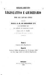 Regolamento legislativo e giudiziario per gli affari civili...