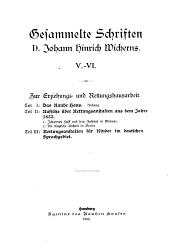 Gesammelte Schriften D. Johann Hinrich Wicherns: Band 6