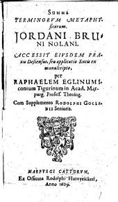 Summa Terminorum metaphysicorum