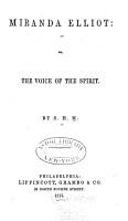 Miranda Elliot  Or  The Voice of the Spirit PDF