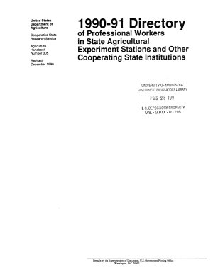 Directory of Professional Workers in State Agricultural Experiment Stations and Other Cooperating State Institutions PDF