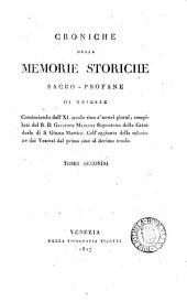 Croniche ossia memorie storiche sacro-profane di Trieste