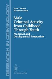 Male Criminal Activity from Childhood Through Youth: Multilevel and Developmental Perspectives