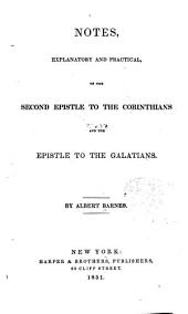 Notes, Explanatory and Practical: On the Second Epistle to the Corinthians and the Epistle to the Galatians