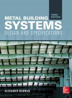 Metal Building Systems  Third Edition PDF