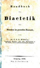 Handbuch der Diaetetik für Menschen im gesunden Zustande