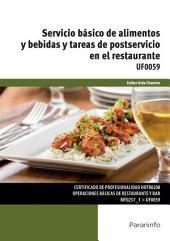 UF0059 - Servicio básico de alimentos y bebidas y tareas de postservicio en el restaurante