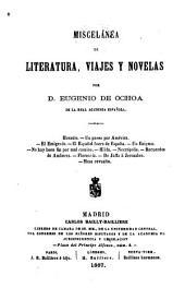 Miscelánea de literatura, viajes y novelas