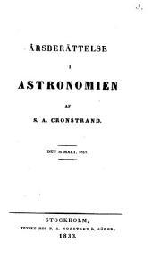 Årsberättelse i astronomien