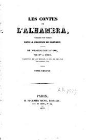 Les contes de l'Alhambra: précédés de Un voyage dans la province de Grenade, Volume2
