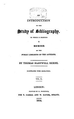 An Introduction to the Study of Bibliography