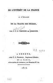 De l'intérêt de la France à l'égard de la traite des nègres