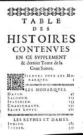 La Cour saincte ou institution chrestienne des grands: avec les exemples de ceux qui dans les cours ont fleury en saincteté, Volume5