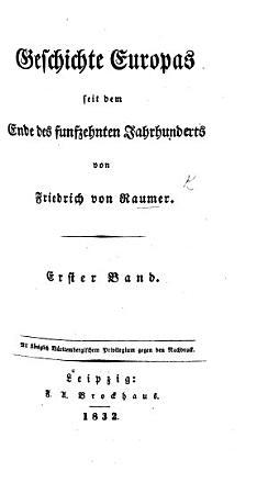 Geschichte Europas seit dem Ende des funfzehnten Jahrhunderts PDF