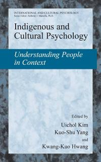 Indigenous and Cultural Psychology Book