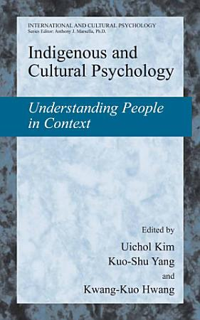 Indigenous and Cultural Psychology PDF