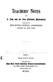 Teachers' Notes on S. Paul and the First Christian Missionaries: Part 1