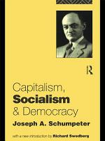 Capitalism  Socialism and Democracy PDF