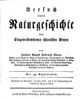 Versuch einer Naturgeschichte der Eingeweidewürmer thierischer Körper: Mit 44 Kupfertafeln