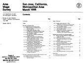 Area Wage Survey: The San Jose, California, metropolitan area