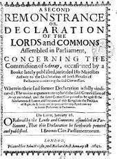 A second remonstrance, or declaration ... concerning the commission of array: Volume 88