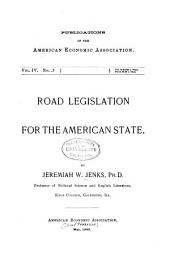 Road Legislation for the American State