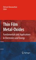 Thin Film Metal Oxides PDF