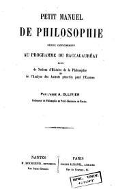 Petit manuel de philosophie