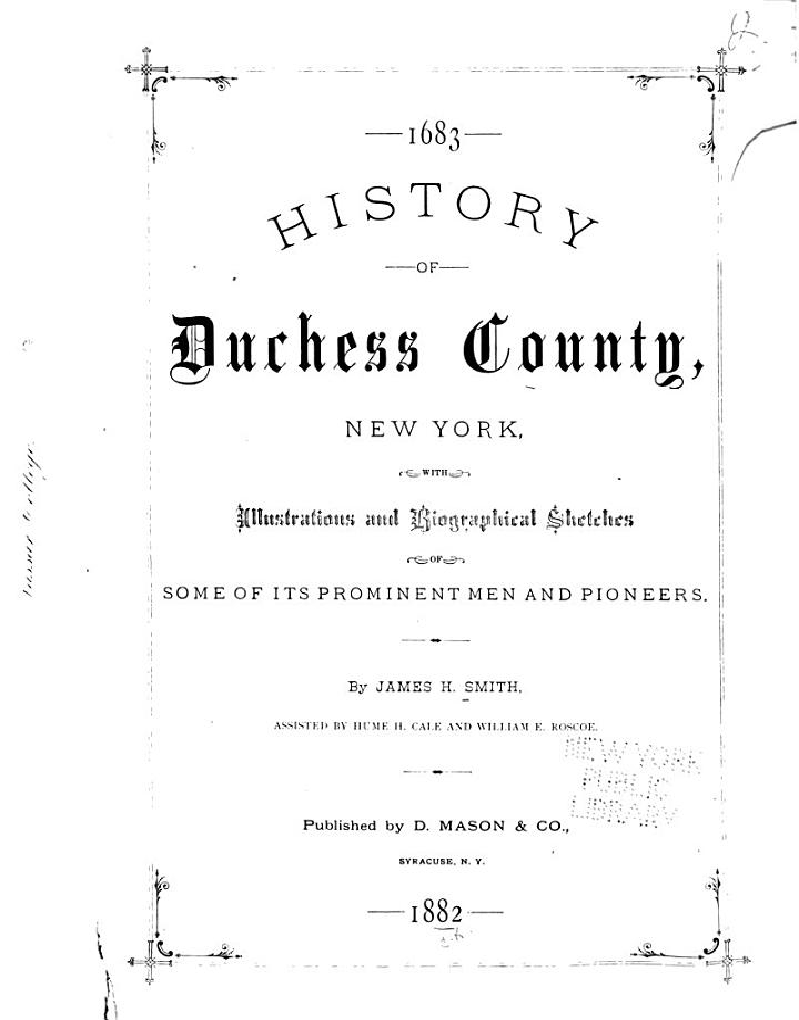 History of Duchess County, New York