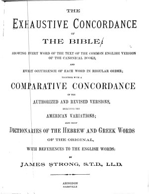 The Exhaustive Concordance of the Bible PDF