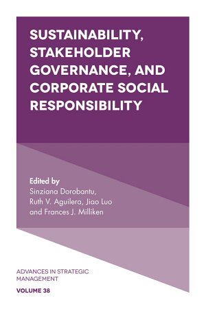 Sustainability  Stakeholder Governance  and Corporate Social Responsibility PDF