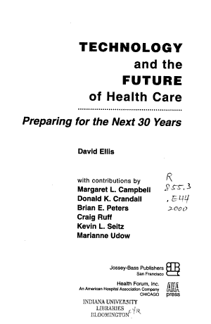 Technology and the Future of Health Care PDF
