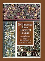 Art Nouveau Floral Ornament in Color