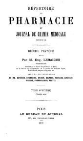 Répertoire de pharmacie: Volume7