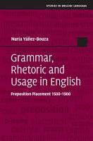 Grammar  Rhetoric and Usage in English PDF