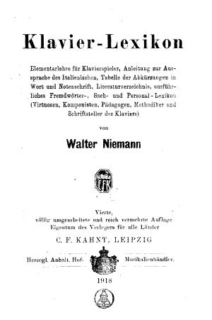 Klavier Lexikon PDF
