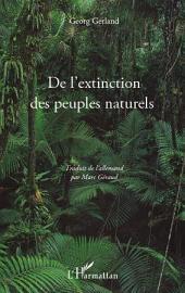 De l'extinction des peuples naturels