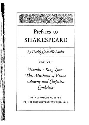 Hamlet  King Lear  The merchant of Venice  Antony and Cleopatra  Cymbeline PDF
