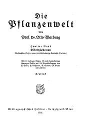Die Pflanzenwelt: Band 2