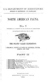 The Death Valley Expedition: A Biological Survey of Parts of California, Nevada, Arizona, and Utah, Part 2