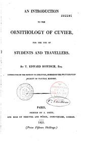 An introduction to the ornithology of Cuvier