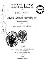 Idylles de Theocrite traduction nouvelle par Leconte de Lisle