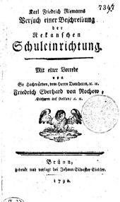 Karl Friedrich Riemanns Versuch einer Beschreibung der Menschen Schuleinrichtung